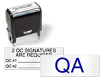 Self-Inking QC Stamps