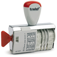 Dial-a-Phrase Dater Stamp with 4mm Date