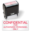 Confidential For Authorized Personnel Stamp Self Inked