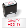 Quality Hold QC Stamp Self inking