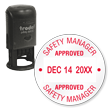 Safety Manager Approved Date QC Self Inking Stamp