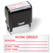 Work Order QC Self Inking Stamp