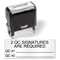 2 QC Signatures Required Self Inking Stamp